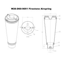 Náhradní měch Firestone 9051 pro VB #0062030040 SK085/137