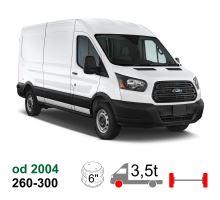 Vzduchové pérování Ford Transit, 04-*, přední náhon, zadní náprava čtyřhran, jednomontáž (Typ 260-300)