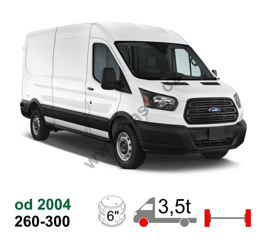 12 Ford Transit 2 2tdci 260s Swb: Vzduchové Pérování Ford Transit, 04-*, Přední Náhon, Zadní