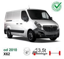 Vzduchové pérování Opel Movano NEW X62, 10-*, přední náhon,  SPECIÁL - větší rozteč měchů + výztuhy NEW