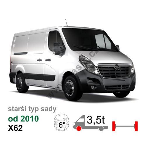 Vzduchové pérování Opel Movano NEW X62, 10-*, přední náhon, jednomontáž