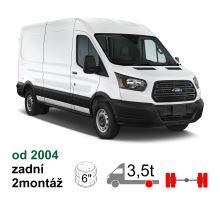 Vzduchové pérování Ford Transit, 04-*, zadní náhon, zadní náprava kulatá, dvojmontáž. Vč. NEW 2014