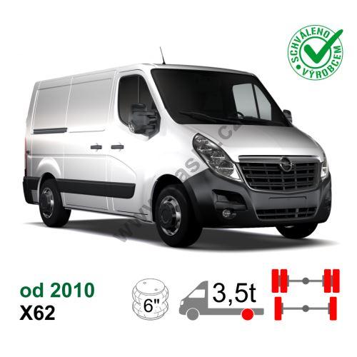 Vzduchové pérování Opel Movano NEW X62, 10-*, zadní náhon, jedno / dvojmontáž