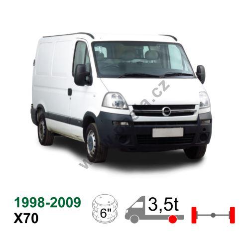 Vzduchové pérování Opel Movano X70,98-09, pro těžké použití