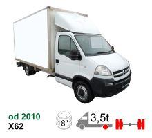 Vzduchové pérování Opel Movano X62 L4, 10-*, zadní náhon, dvojmontáž