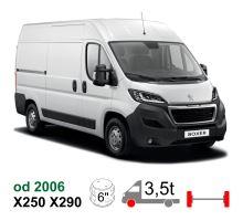 """Vzduchové pérování Peugeot Boxer Euro Chassis X250, 06-* měch 6"""", metrický"""