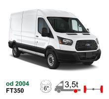 Vzduchové pérování Ford Transit FT 350, 04-15, zadní náhon, zadní náprava kulatá, jednomontáž. Vč. NEW 2014