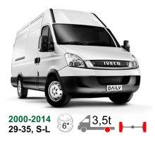 Vzduchové pérování Iveco Daily 29-35 S-L 11 až 18, 00-14 !, zadní jednomontáž, pérování nad nápravou